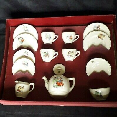 1925+ Grindley Childs' Tea Set With Nursery Rhymes With Original Box  • 65£