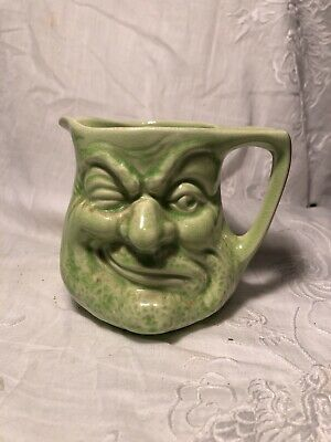 Vintage Character Jug Blue Before & After 10 Cm • 12£
