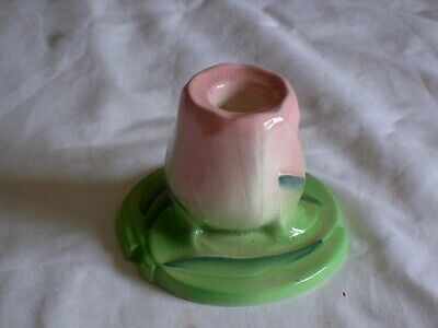 Carltonware  Art Deco Style Rose Design Candle Holder  Excellent Condition. • 9£
