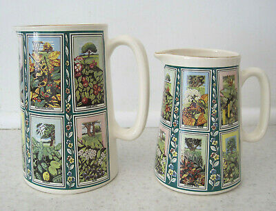 2 Eastgate Ringtons Pottery Jugs Picture Card Pattern Trees • 4.99£