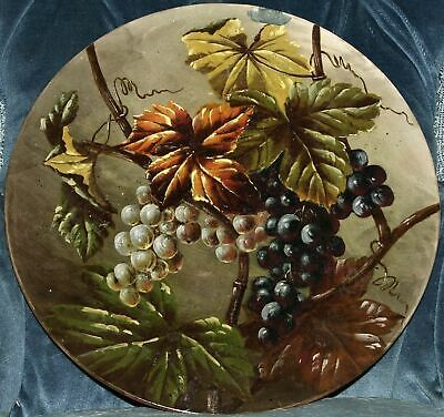 WATCOMBE 12 Inch PLAQUE PAINTED WITH FRUITING VINES • 25£