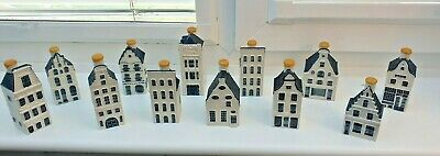 12 X KLM Delft Miniature Houses All Original Waxed Sealed   • 89.99£