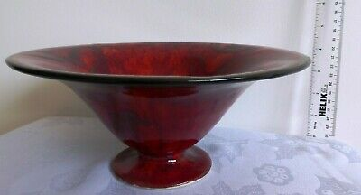 Cobridge, Moorcroft. Anita Harris, Striking 'Rhapsody In Red' Stoneware Bowl. • 44£