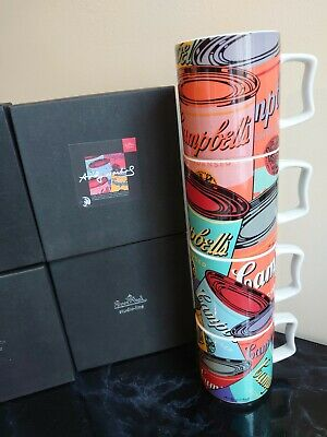 Andy Warhol Rosenthal Campbell's Soup Cups Set Of 4 • 70£