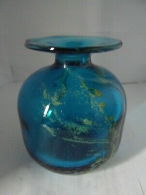 Mdina Glass Turquoise Bottle Vase   • 10.95£
