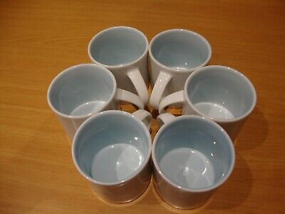 British Airways Royal Doulton 6 Mugs / Cups White With Pale Blue Interior • 7.50£