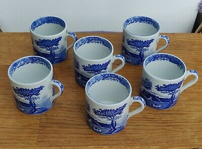 Spode Italian Coffee Espresso Cups - Excellent Condition - Set Of Six • 10£