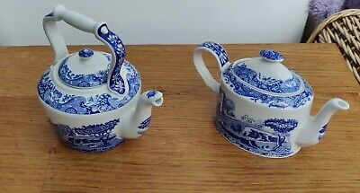 Spode BLUE ITALIAN DESIGN Teapot & Hot Water Pot • 10.50£