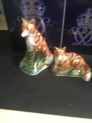Royal Crown Derby Goviers Limited Edition Devonian Vixen And Cub • 179.95£
