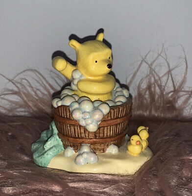 Winnie The Pooh Bathtime Collection Royal Doulton A Clean Bear Is A Happy Bear • 4£