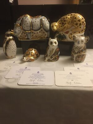 Royal Crown Derby Sinclairs Endangered Species Full Set • 1,995£