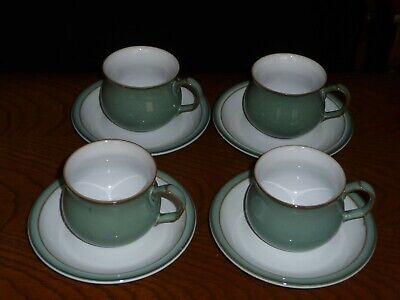 Denby Regency Green Cup And Saucer X 4 • 10£