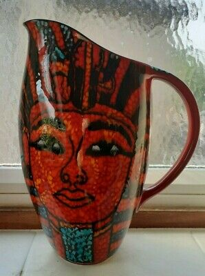 Studio Poole Pottery Egyptian Jug By Nicky Massaralla Unique One Off • 200£