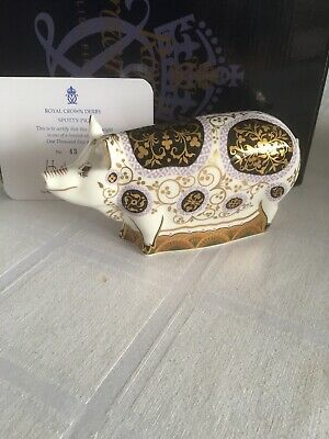 Royal Crown Derby Spotty Pig Limited Edition 1500. • 99.95£