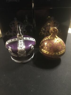 Royal Crown Derby Coronation Crown And Orb Matching Pair • 345£