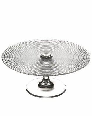 Glass Pedestal Patterned Generation Cake Display Stand Wedding 28cm By Pasabahce • 6£