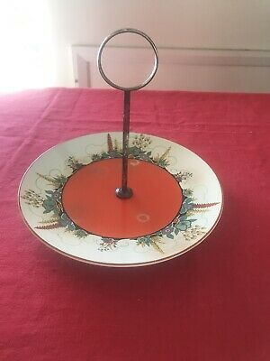 Vintage Soho Pottery Solian Ware Marie Cake Plate Stand 1930s Art Deco • 1£