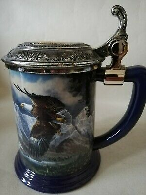 Eagle Of The Last Frontier Collectors Tankard By Ted Blaylock The Franklin Mint  • 17.99£