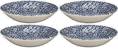ROYAL WESSEX BY CHURCHILL VICTORIAN CALICO 4x SOUP/PASTA BOWLS 22cm - NEW/UNUSED • 32£