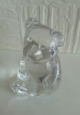 Solid Glass Teddy Bear • 6.95£