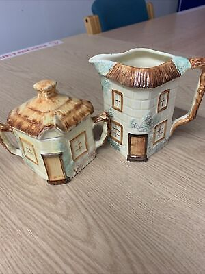 Keele Street Pottery. Sugar Bowl And Milk Jug  • 15£