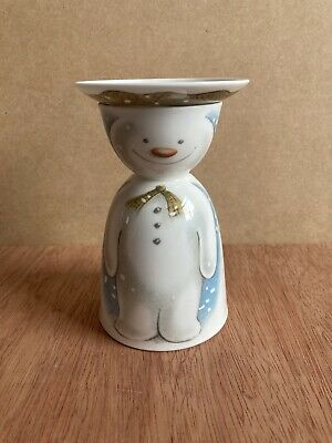 Royal Doulton The Snowman Egg Cup With Salt Plate 1985 • 12.99£