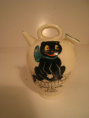 Crested China Arcadian Lucky Black Cat • 39.99£