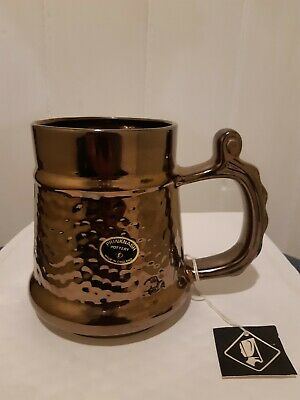 Vintage Prinknash Pottery - Large Tankard - Bronze Finish • 7.99£