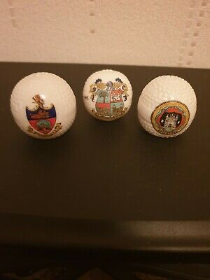 Crested China 3 Golf Balls Collection Job Lot  • 10£