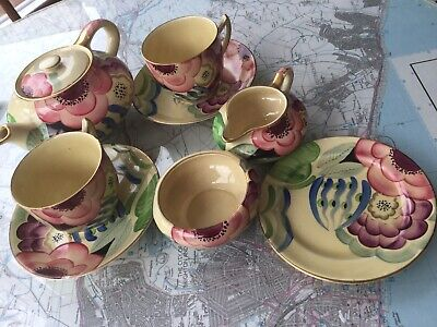 Grays Pottery Art Deco Susie Cooper Influenced Tea For Two • 40£