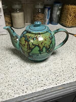 Cardews Terrestrial World Globe Teapot Made England Will Display Well  • 5£