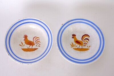 A Pair Of French Faience Plates Decorated With Poultry. • 24.95£