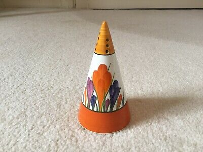 Centenary Clarice Cliff Bizarre CROCUS Conical Sugar Shaker Sifter Excellent • 30£