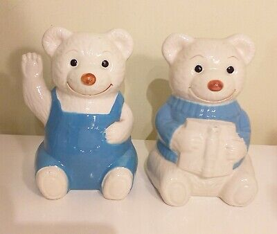 Wade Boots Cook Shop Bookend Bears - Christmas 1988 - Used Good Condition • 19.99£