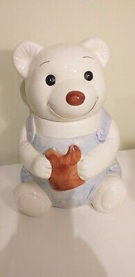 Wade Boots Cook Shop Bears Cookie Jar - Christmas 1988 - Used Good Condition • 19.99£