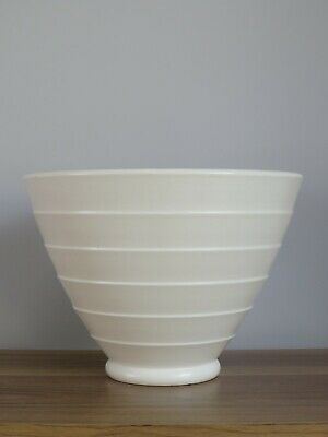 KEITH MURRAY For WEDGWOOD A MOONSTONE BOWL CONICAL GREAT SHAPE STUDIO POTTERY • 200£