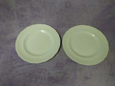 2 Great Swinnertons Luxor Vellum Plates Off White Crimped Edge Approx 8 ¾  • 15.99£