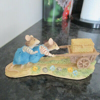 Brambly Hedge Classic Collectables Bhf06 Wilfred/teasel Pushing Cart Look! • 14.50£