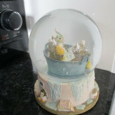 Brambly Hedge Enesco Babies In Baby Snowglobe Perfect!!  Look! • 14.50£