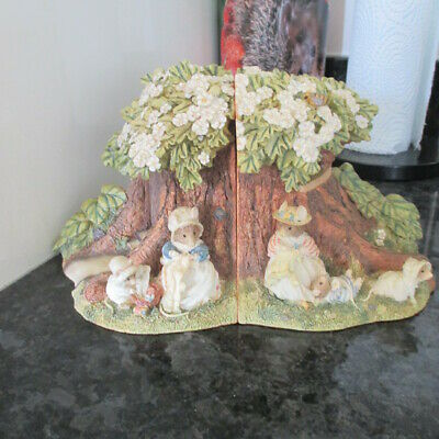 Brambly Hedge Border Fine Arts Poppy's Babies Bookends Perfect!!  Look! • 46£