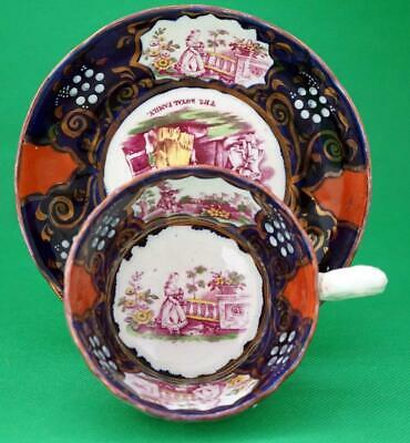 Gaudy Welsh Pottery Queen Victoria   Royal Commemorative Cup And Saucer Antique • 75£