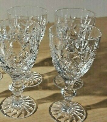 Set Of Four Very Pretty Crystal Liqueur/Sherry Glasses. • 5.95£