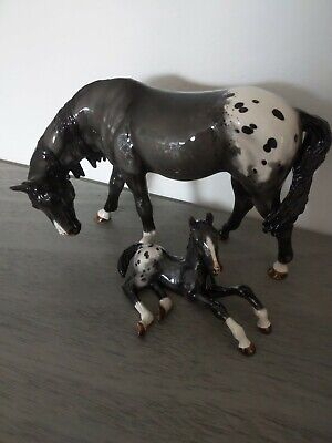 Cheval Ceramics Horse Mare And Foal Appaloosa • 200£