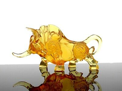 Rare Strikin Art Glass Amber Bull Sculpture From Private French Glass Collection • 7.95£