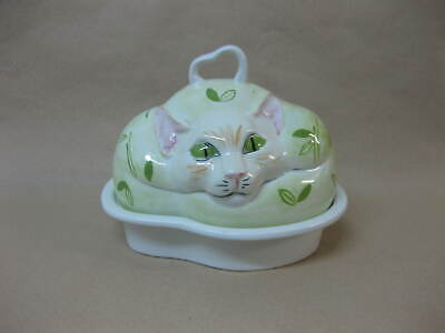Carlton Ware Cat Butter Dish ~ Ceramic Butter Dish With Cat Lid • 19.99£
