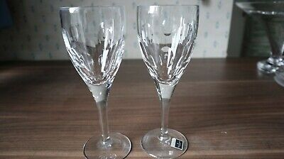 2 Waterford Crystal John Rocha  Imprint  Wine Glasses + Box Tissue Labels, 21cm  • 180£