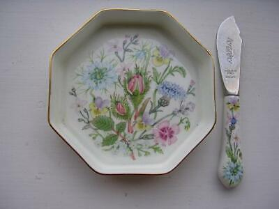 Aynsley Wild Tudor Butter Dish And Knife • 8£
