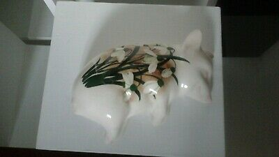 Griselda Hill Pottery ?  Wemyss Rare (UNSIGNED ) Sleeping Piglet Snowdrops • 180£