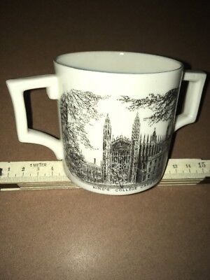 Vintage Crested China - W H Goss - Loving Cup,Kings & Trinity Colleges Cambridge • 120£