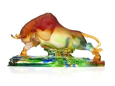 Huge Magnificent World Class French Art Glass Bull Sculpture Magnificent • 128£